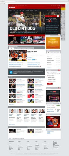 ESPN.com Conceptual Redesign by Justin Freiler, via Behance