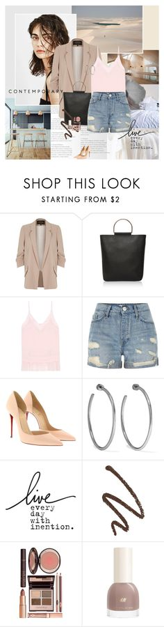 """Summer is coming"" by rainie-minnie ❤ liked on Polyvore featuring River Island, Topshop, By Malene Birger, Christian Louboutin, Jennifer Fisher and Charlotte Tilbury"