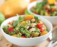 Thai Style Broccoli Salad with Sweet Chili Lime Dressing - broccoli salad just went to a whole new level!