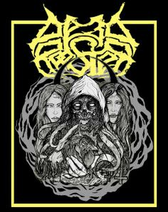 Adrian Brouch 2012 Dead Rooster - Witches of Belial (tape) [Dead Rooster] #inlay