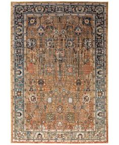 """Karastan Spice Market Myanmar 5'3"""" x 7'10"""" Area Rug $499.00 This gorgeous and lively Spice Market Myanmar area rug from Karastan is inspired by a fusion of timeless styles from the East. Its ground provides a bold setting for the intricate vine and floral motifs that envelop it in a bedazzling palette of vibrant jewel tones"""