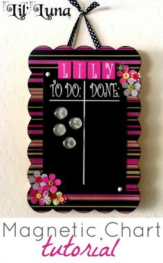 DIY Magnetic Chore Chart by Lil' Luna