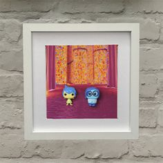 Inside Out Inspired Joy Joy And Sadness, Box Frames, Inside Out, Framed Wall Art, 3 D, Centerpieces, Easter, Chocolate, Inspired