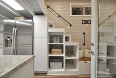 Refrigerator & Storage - Kate by Tiny House Building Company