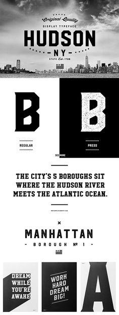 Hudson NY Display Font
