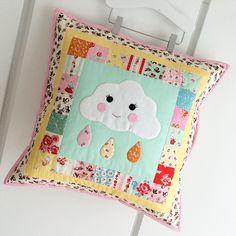 Cloud Pillow featuring Milk, Sugar & Flower fabric designed by Elea Lutz for Penny Rose Fabrics #milksugarflower #elealutz #pennyrose