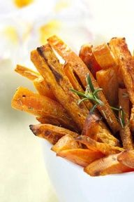 """Sweet Potato Fries. One commenter says, """"At long last, a crispy GF sweet potato fry I can actually make - brilliant technique and super tasty"""""""