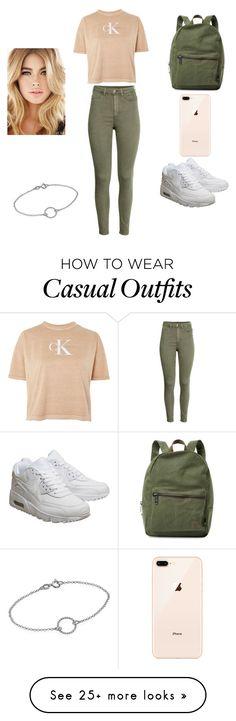 """Street casual"" by zubaidahalgahmi on Polyvore featuring Calvin Klein, NIKE, Herschel Supply Co. and MyFaveTshirt"