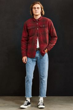 Columbia Windward Plaid Insulated Shirt Jacket - Urban Outfitters