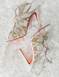 Sparkly wedding shoe