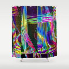Facets Shower Curtain by David  Gough - $68.00