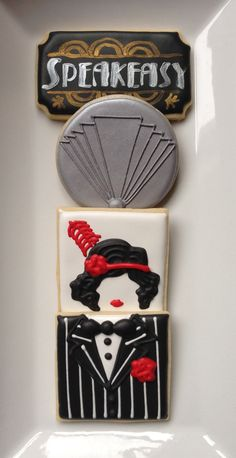 Roaring 20's Sugar Cookie Collection by NotBettyCookies on Etsy