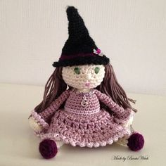 Little Miss BautaWitch - amigurumi  http://bautawitch.se/2013/05/15/amigurumi-me-myself-and-i/