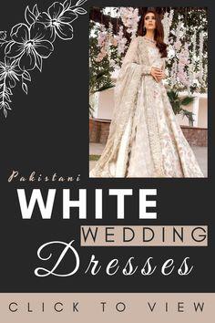 Pakistani Fashion Party Wear, Pakistani Bridal Wear, Pakistani Dress Design, Pakistani Designers, White Wedding Guest Dresses, Formal Wedding, Indian Wedding Outfits, Wedding Dress Styles, Party Dresses