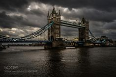 The Tower Bridge - Pinned by Mak Khalaf Travel CloudsDarkDramatic SkyLondonTower Bridge by GOmar80307
