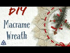 Hi Friends, II'll show you How to make Macrame Christmas Wreath for your home.This Wreath making tutorial is very easy and in 5 minutes you will master it. Christmas Wreaths To Make, Christmas Banners, Diy Christmas Ornaments, How To Make Ornaments, How To Make Wreaths, Christmas Tree, Macrame Art, Macrame Projects, Macrame Knots