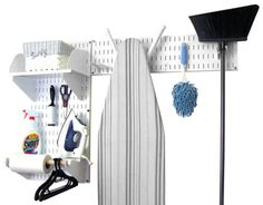 Pegboard tool storage metal pegboard garage storage peg board supplies by Wall Control for pegboard tool storage in garage storage and home organization where colored peg boards and magnetic pegboard hooks and supplies are organized.