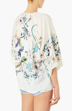 Topshop Bird Print Kimono Jacket- would be so cute with skinny trousers or a pencil skirt. Love this as an alternative to a blazer.