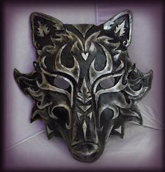 Full-face wolf mask. Rawr.