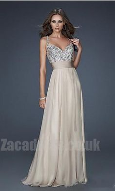 $162.99 - La Femme 16802n Natural Cheap Chiffon Dresses