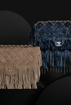 Calfskin flap bag embellished... - CHANEL