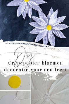#Diy #Crêpepapier #bloemen #paper Easy Peasy, Babyshower, Free Printables, Diys, Tapestry, Messages, Crafty, Blog, Gender