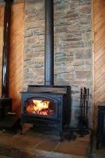 Stone behind wood stove