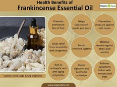 The health benefits of Frankincense Essential Oil can be attributed to its properties as an antiseptic, disinfectant, astringent, carminative. Essential Oils For Face, Doterra Essential Oils, Pure Essential, Frankincense Essential Oil Benefits, Benefits Of Organic Food, Health Benefits, Organic Oil, 1 Oz, Natural Healing