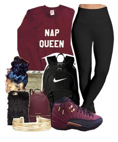 Untitled #950 by kaja-bear on Polyvore featuring polyvore, fashion, style, Lyssé Leggings, NIKE, Michael Kors, Stella & Dot, NOVA, SEN and clothing