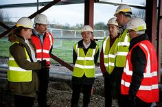 November 2015 prospective students visiting UTC South Durham's building site