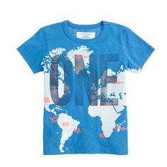J.Crew - Boys' glow-in-the-dark one world tee