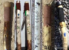 "How to Make Your Own Walking Stick: Wooden Walking Sticks from <a href=""http://www.westernwoodartist.com"">Westernwoodartist.com</a>"