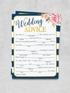 15 Printable Wedding Games That'll Entertain Guests of All Ages–Mad Libs Wedding Advice Wedding Advice, Wedding Planning Tips, Plan Your Wedding, Budget Wedding, Wedding Ideas, Diy Wedding, Wedding Planner, Wedding Shit, Wedding Table