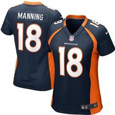 Peyton Manning Denver Broncos Nike Women's Alternate Game Jersey - Navy Blue