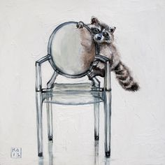 the+bandit,+painting+by+artist+Kimberly+Applegate