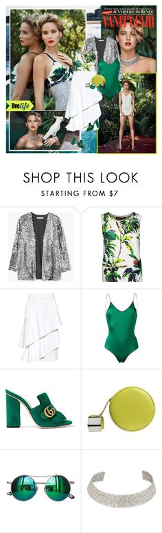 """""""Jennifer Lawrence : )"""" by thisiswhoireallyam7 ❤ liked on Polyvore featuring xO Design, Vanity Fair, MANGO, Proenza Schouler, Marissa Webb, Oséree, Gucci, Perrin, Chicnova Fashion and Alexis Bittar"""