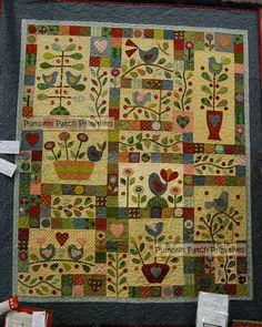 Berries and Bluebirds BOM my design quilt