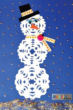 Combine the fun of paper snowflakes and smiling snowmen in this fun winter-inspired kids' craft. With the use of glitter paint, googly eyes, cute fabric, buttons, and more, kiddos of all ages will have so much fun cooped up inside with this art project.