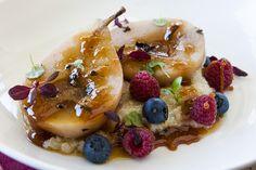 Honey Poached Pears with White Quinoa PorridgeAustralian Flavours   Australian…