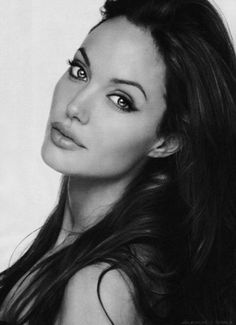 """Elegance"" in Black & White~   {Angelina Jolie}"