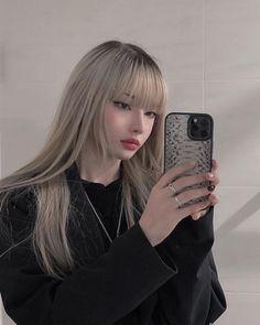 Korean Hair Color, Ulzzang Hair, Blonde Asian, Blonde Hair Girl, Korean Beauty Girls, Foto Jimin, Cute Girl Face, Aesthetic Hair, Grunge Hair