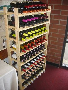 120 Bottle Rustic Wood Wine Rack; Super EASY to assemble!! (Made in Oregon) G.E. Lumber,http://www.amazon.com/dp/B004KM7LGU/ref=cm_sw_r_pi_dp_hyActb06BTWDH7R6