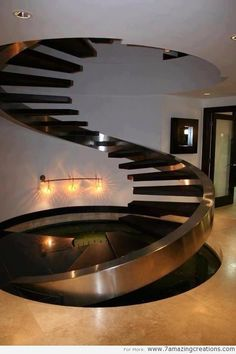 Stairs can have various shapes from spiral ones to the regular shapes you know. They can be significant elements in interior design. Stairs in modern design often are made from glass and steel and look really glamorous and snazzy. These materials are a bit expensive but for the people who like to have different stairs there are some good solutions, too