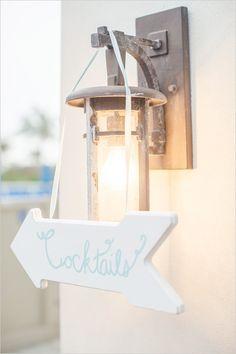 cocktails wedding sign