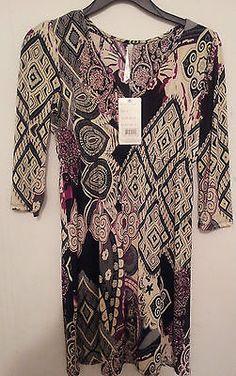 NWT Juniors Cristina Love Purple & Black Bohemain Print Dress Size S $17.99 #bohodress #juniors #bohemianwear