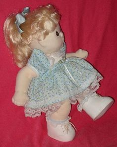Mint! The Original! Vintage BLONDE MY CHILD Cloth Doll with Brown Eyes