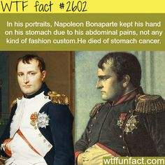 Why Napoleon kept his hands on his stomach -WTF funfacts