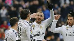 Mit zwei Toren der Matchwinner: Karim Benzema - Real Madrid schlägt San Sebastian 4:1! (Just like yesterday (Jan 30) with VfL Wolfsburg vs FC Bayern...it was also 4:1) ROTnaldo sieht Benzema-Traumtor! lol http://www.bild.de/sport/laola-spanische-liga-primera-division/real-madrid/rotnaldo-sieht-benzema-traumtor-39581374.bild.html