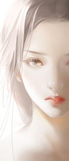 眼睛好有神,钟陵醉别十余春,重见云英掌上身。我未成名卿未嫁,可能俱是不如人。美女图,手绘插画