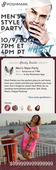 MY FIRST POSH PARTY | 10/9/2017 🕵🏽💂🏽♀️🕺🏼 I'm so excited and honored to be hosting an awesome Men's Style Party with some of my favorite Poshers! Cannot wait to see your fabulous picks! BONUS: Make sure you're using Ibotta to shop on Posh for extra discounts! Don't know about Ibotta? Look at the second listing in my closet and click on the link in my bio. See you soon as we get down at the party! 🎉 Tom Ford Suits & Blazers Tuxedos
